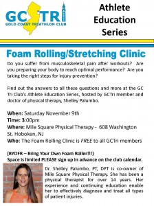foam rolling clinic flyer
